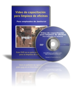 Office Cleaning Training Video / DVD for Janitorial Employees - In Spanish!
