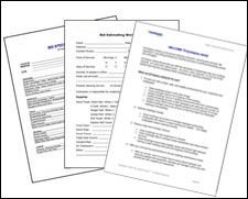 This group of downloadable forms includes: Bid Specifications, Bid Estimation Worksheet, Cleaning Bid Packet, Service Contracts for both commercial and residential accounts, and an Apartment/House Cleaning Checklist.