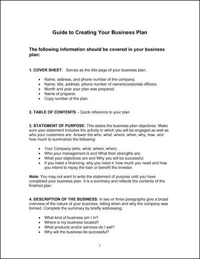 Marketing section of business plan