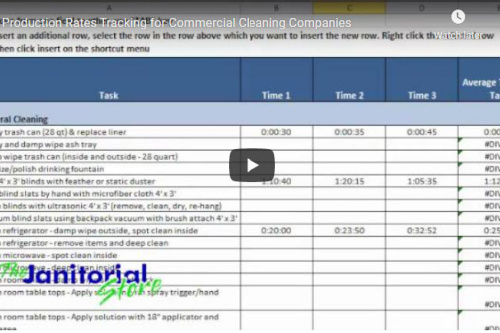 Video: Production Rates Tracking for Commercial Cleaning Companies