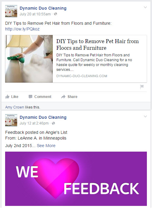 Do you use social media to market your cleaning business facebook post examples fandeluxe Images