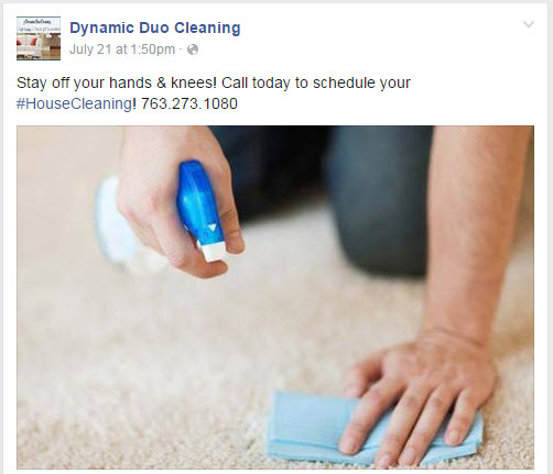 Do you use social media to market your cleaning business promotional facebook post example fandeluxe Images