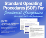 6-CD SET: Standard Operating Procedures (SOP) for Janitorial Companies