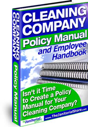 Cleaning Company Policy Manual And Employee Handbook (MS Word Download)
