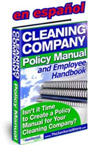 Cleaning Company Policy Manual and Employee Handbook - In Spanish