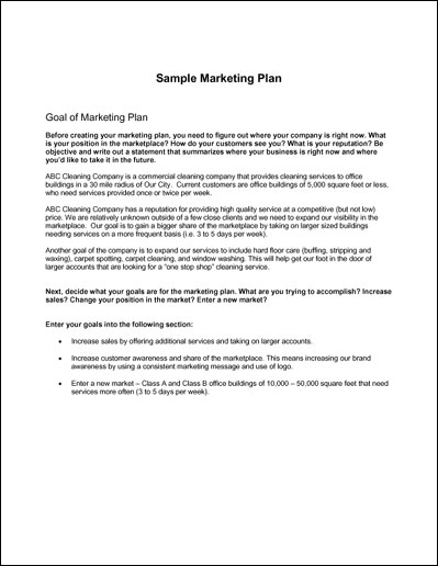 Simple Marketing Plan Example Kleo Bergdorfbib Co