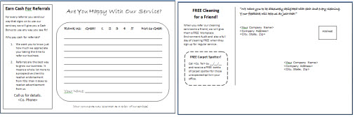 Postcard And Comment Card Templates For Commercial Cleaning Companies